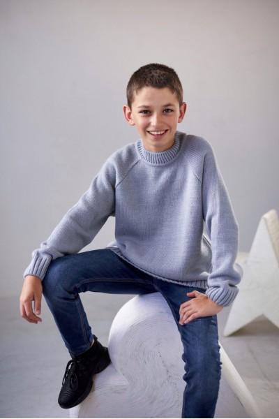 Трикотажный свитер_серый