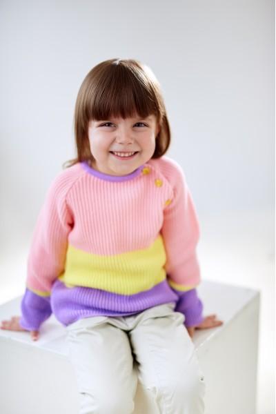 Цветная кофта девочке