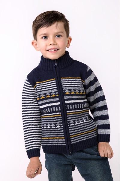 Зимний свитер под горло | Темно-синий