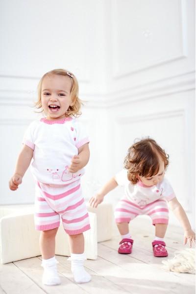 Летний костюм для малышей | Розовый