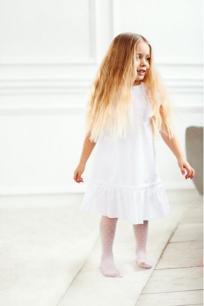 Легкое платье с воланами | Белый