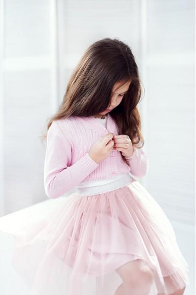 Болеро для девочки | Розовый