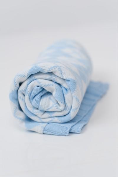 Плед с нежными ромбиками | Голубой