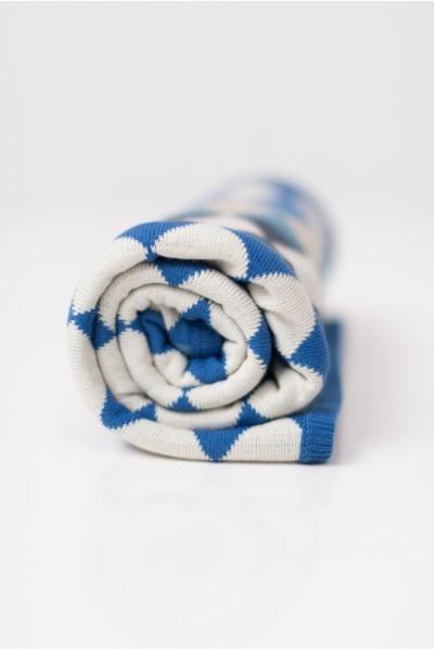 Плед в синий ромб