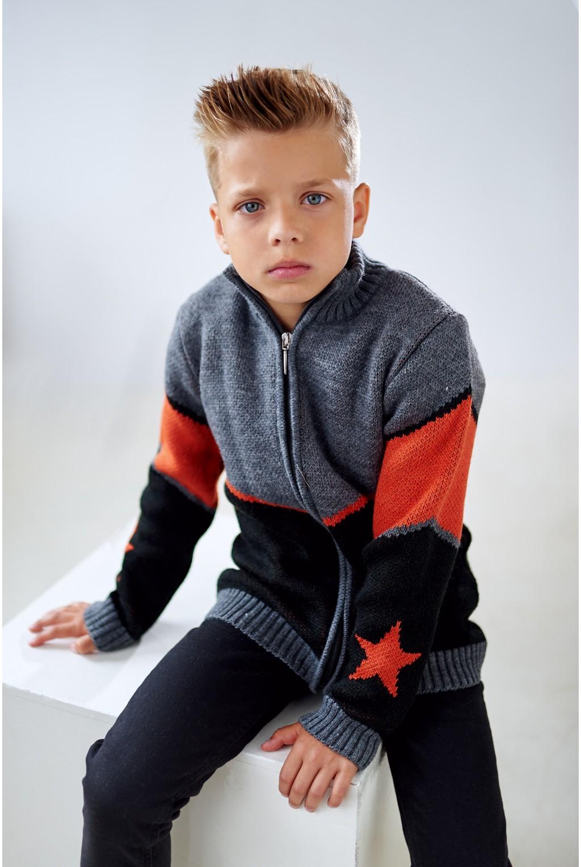 Кофта для мальчика со звёздами