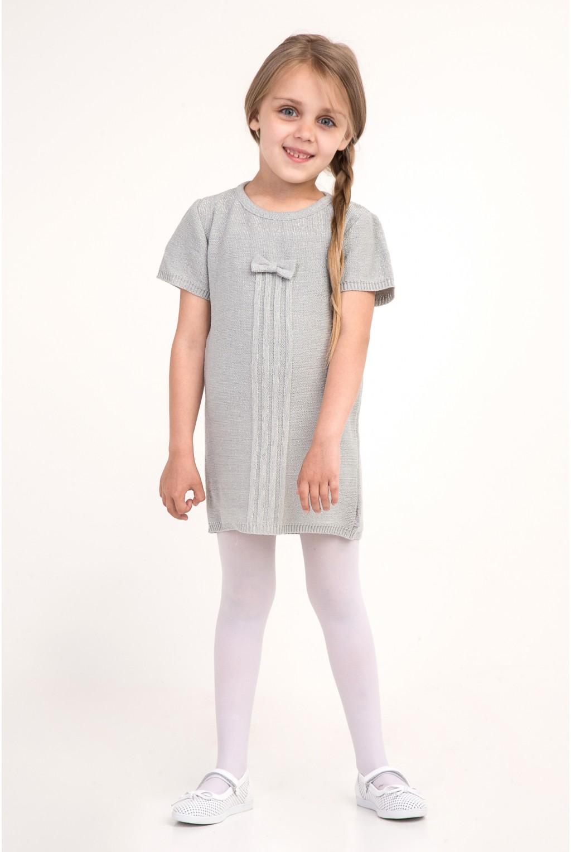Платье - туника с бабочкой | Серый