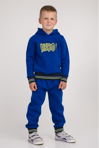 Спортивный костюм с капюшоном | Ярко-синий