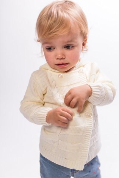 Двубортная кофта для малышей | Молочный
