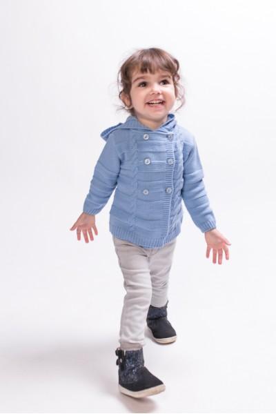 Двубортная кофта для малышей | Голубой