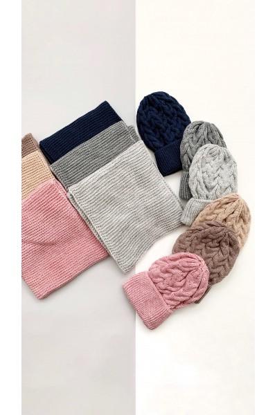 Зимний комплект (шапка+шарф-хомут)