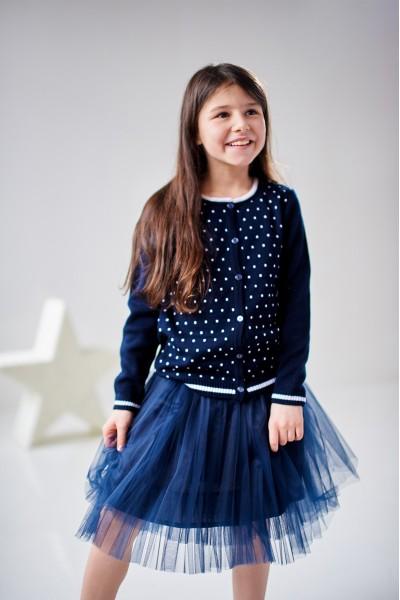 Синяя фатиновая юбка