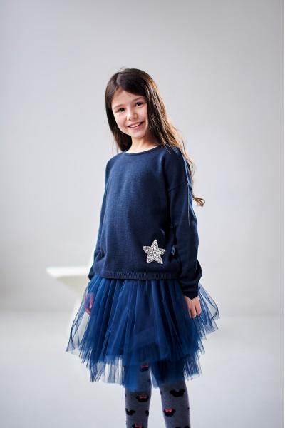 Кофта для девочки со звездой