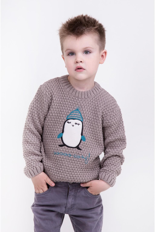 Свитер с вышивкой пингвина