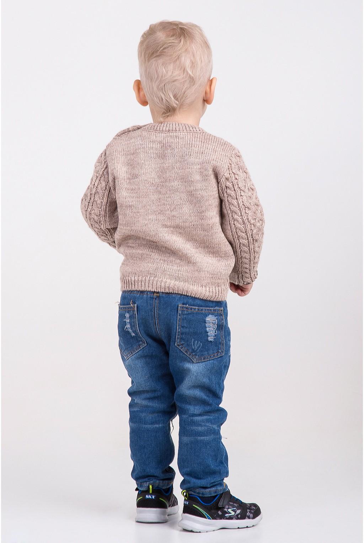 Вязаный свитер с крупным узором | Бежевый