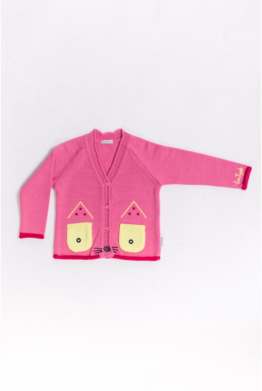 Кофта с ушками котика   Розовый