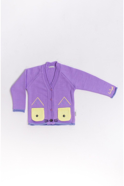 Кофта с ушками котика / Фиолетовый, розовий